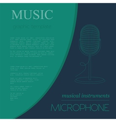 Musical instruments graphic template microphone vector