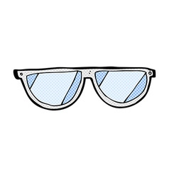 Comic cartoon glasses vector
