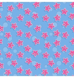 Seamless sea pattern with starfish pattern vector