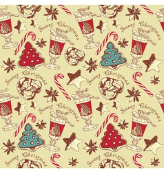 Christmas confectionery pattern vector