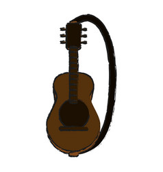 Acoustic guitar icon image vector