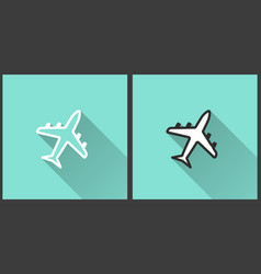 Airplane - icon vector