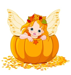 Autumn Little Fairy vector image vector image