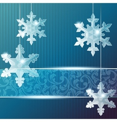banner with snowflake ornaments vector image