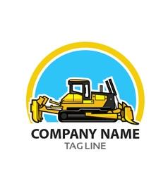 Bulldozer Logo vector image vector image