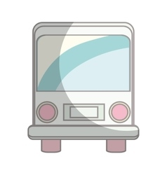 Bus vehicle isolated icon vector