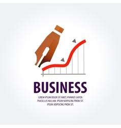 Business logo design template earnings vector