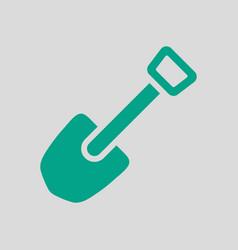 Camping shovel icon vector