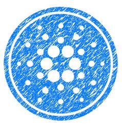 Cardano coin icon grunge watermark vector