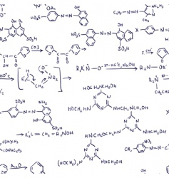 chemistry formulas seamless vector image vector image