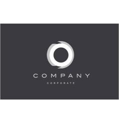 Circle corporate grey white logo icon design vector
