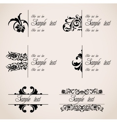 Classic Border Ornaments set vector image vector image