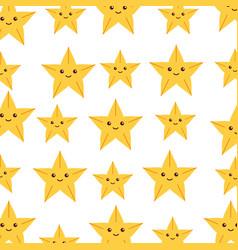 Cute starfish pattern background vector
