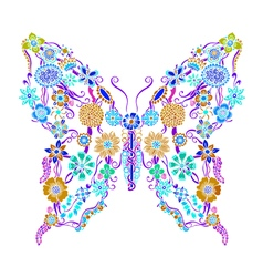 Decorative ornate butterfly vector image