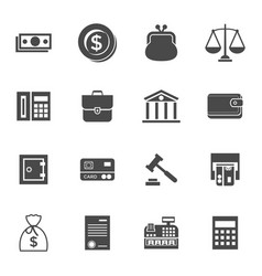 digital black business icons vector image vector image