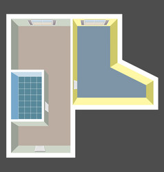 empty house plan top view vector image vector image