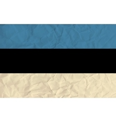 Estonia paper flag vector