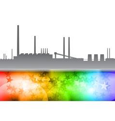 factory rainbow vector image vector image