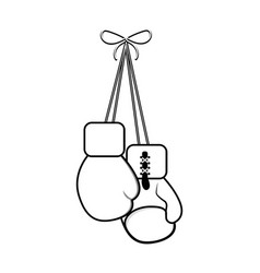 figure boxing gloves hanging icon vector image vector image