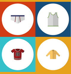 Flat icon dress set of underclothes t-shirt vector