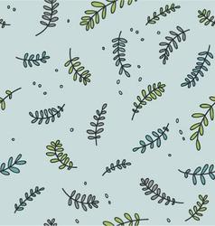 flora pattern background vector image