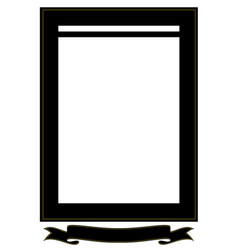 Funeral frame with tape for an inscription a sad vector