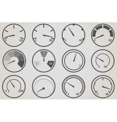 Gauge meter icons sets vector image