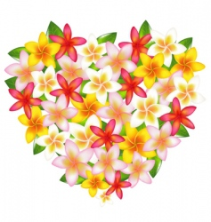 heart shaped flowers vector image