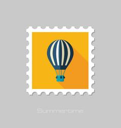 Hot air balloon stamp summer vacation vector