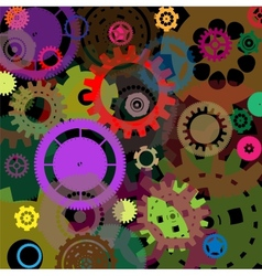 Industrial colorful background design vector image vector image