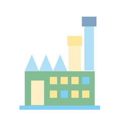 industrial factory to contamination of environment vector image vector image