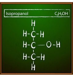 Isopropanol molecules vector
