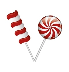 lollipop candy sweet isolated icon vector image vector image