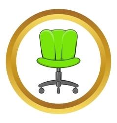 Office chair icon cartoon style vector