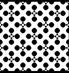 Seamless pattern floral dotted geometric texture vector