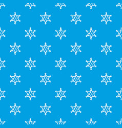 sheriff star pattern seamless blue vector image vector image