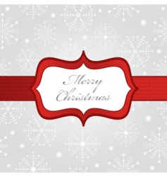 silver Christmas wrapping vector image