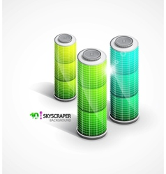 skyscrapers background vector image