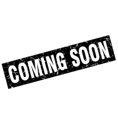 Square grunge black coming soon stamp vector