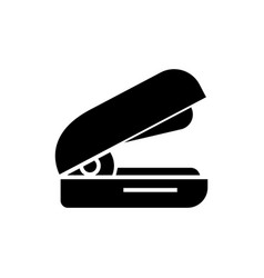 stapler icon black sign on vector image vector image