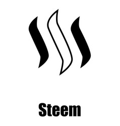 Steem icon simple style vector