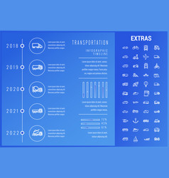 transportation infographic template and elements vector image vector image