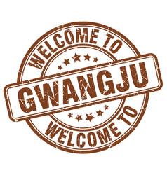 Welcome to gwangju brown round vintage stamp vector