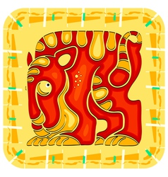 Year of the tiger chinese horoscope animal sign vector
