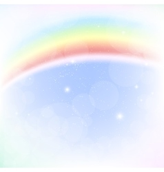 Abstract image of a rainbow vector image