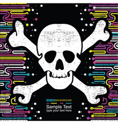 Background with skulls vector image