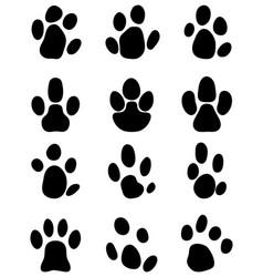 Black footprints of tapir vector