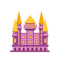 Purple fairytale royal castle or palace building vector