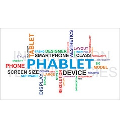 Word cloud phablet vector