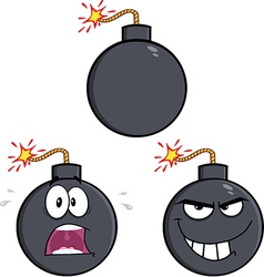 Cartoon bomb design vector